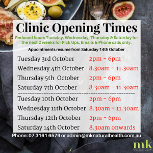 Changes to our Hours