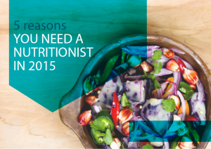 5-REASONS YOU NEED A NUTRITIONIST