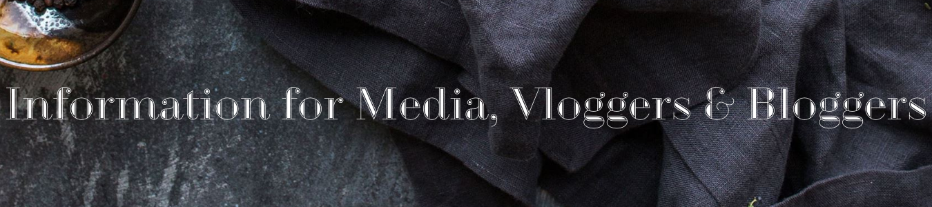 Information for Vloggers, Bloggers and Media